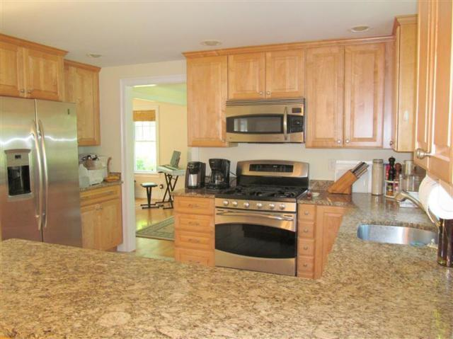 Recessed kitchen lighting at 44 Cranberry Run Road in Falmouth!