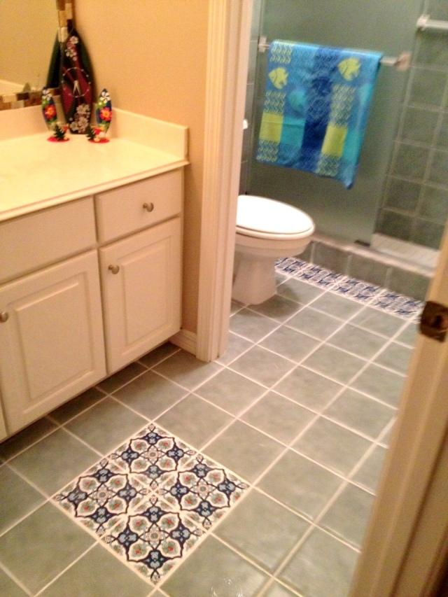 diy tile floor result